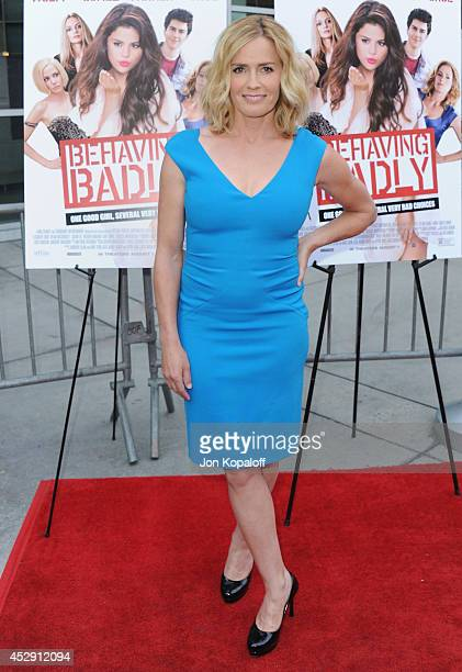 Actress Elisabeth Shue arrives at the Los Angeles Premiere 'Behaving Badly' at ArcLight Hollywood on July 29 2014 in Hollywood California