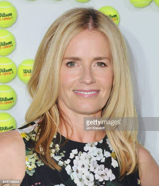 Actress Elisabeth Shue arrives at the Premiere Of Fox Searchlight Pictures' Battle Of The Sexes at Regency Village Theatre on September 16 2017 in...