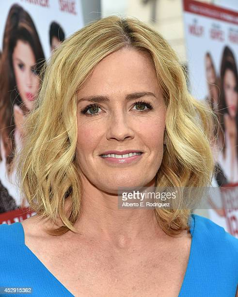 Actress Elisabeth Shue arrives to the premiere of Mad Chance's 'Behaving Badly' at the ArcLight Hollywood on July 29 2014 in Hollywood California