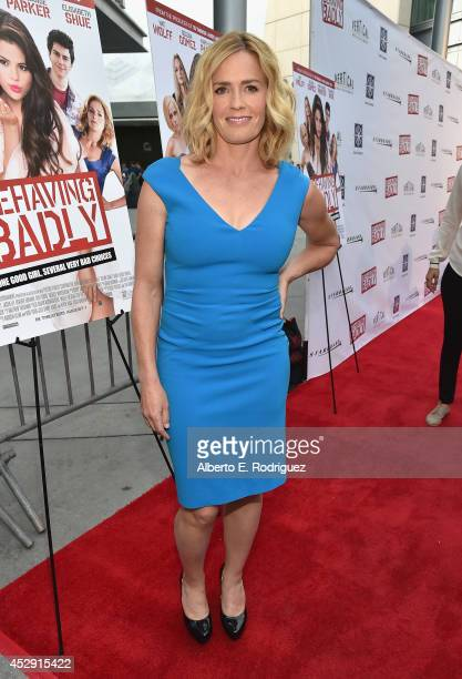 Actress Elisabeth Shue arrives to the premiere of Mad Chance's Behaving Badly at the ArcLight Hollywood on July 29 2014 in Hollywood California