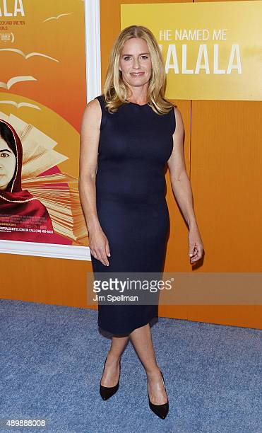 Actress Elisabeth Shue attends the 'He Named Me Malala' New York premiere at the Ziegfeld Theater on September 24 2015 in New York City