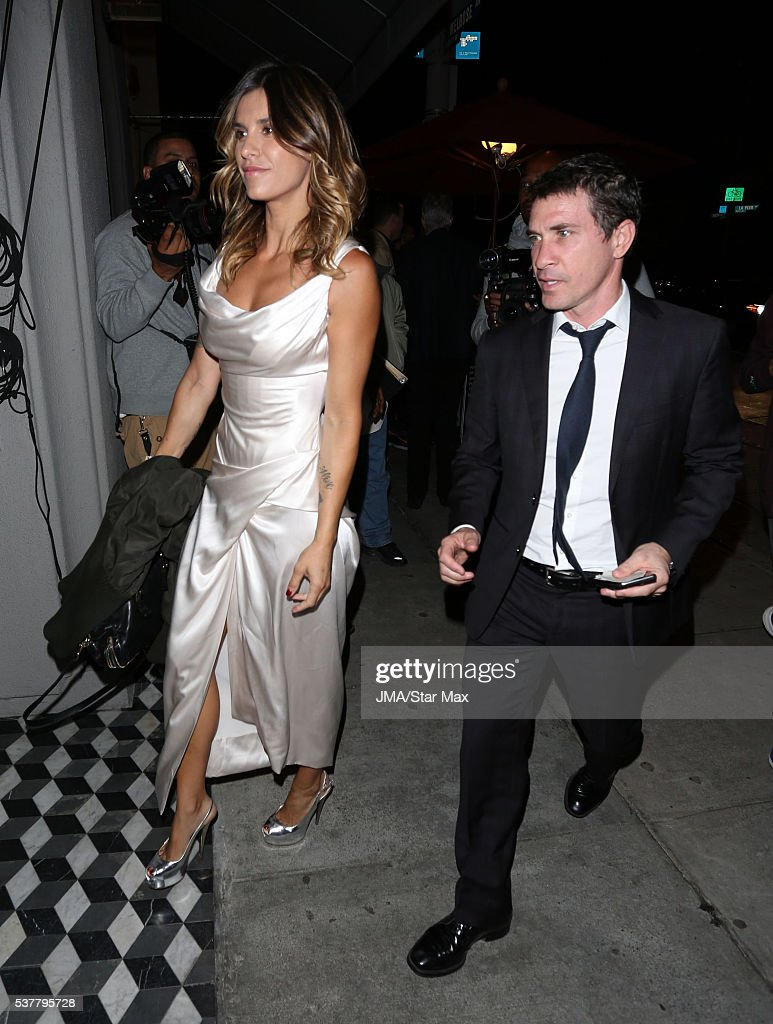 Actress Elisabetta Canalis and her husband Brian Perri are seen on... Foto  di attualità - Getty Images