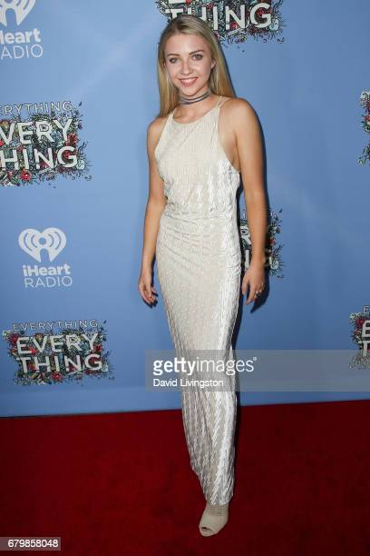 Actress Elise Luthman attends the screening of Warner Bros Pictures' 'Everything Everything' at the TCL Chinese Theatre on May 6 2017 in Hollywood...