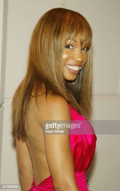 Actress Elise Neal arrives at ASCAP's 17th Annual Rhythm Soul Music Awards at the Beverly Hilton Hotel on June 28 2004 in Los Angeles California