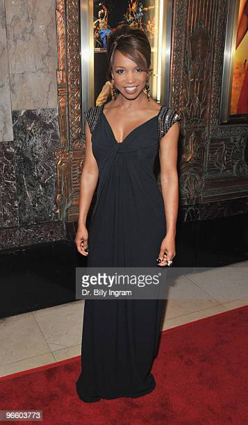 Actress Elise Neal arrives at The Color Purple Los Angeles opening night at the Pantages Theatre on February 11 2010 in Hollywood California