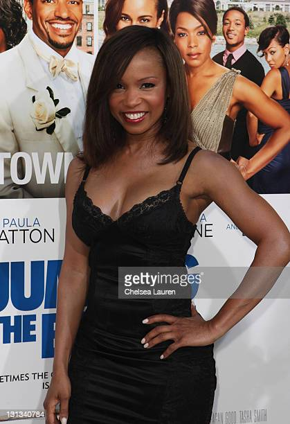 Actress Elise Neal arrives at the Los Angeles premiere of 'Jumping The Broom' at ArcLight Cinemas Cinerama Dome on May 4 2011 in Hollywood California