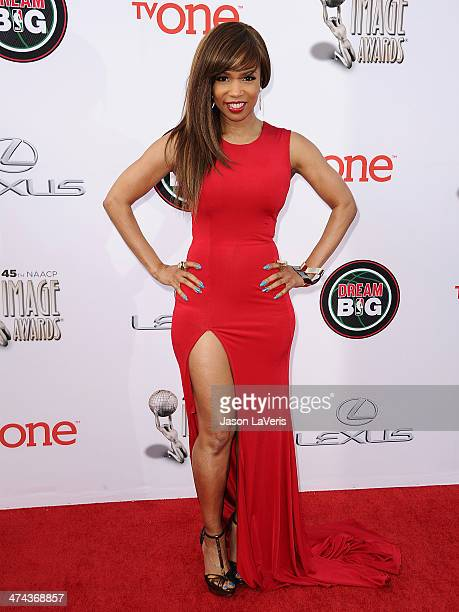 Actress Elise Neal attends the 45th NAACP Image Awards at Pasadena Civic Auditorium on February 22 2014 in Pasadena California