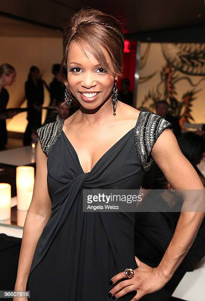 Actress Elise Neal attends the opening night of 'The Color Purple' after party at Katsuya on February 11 2010 in Hollywood California