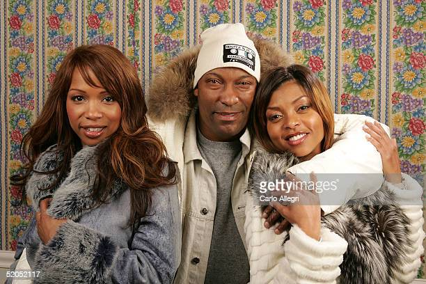 Actress Elise Neal director John Singleton and actress Taraji Henson of the film Hustle and Flow poses for portraits during the 2005 Sundance Film...