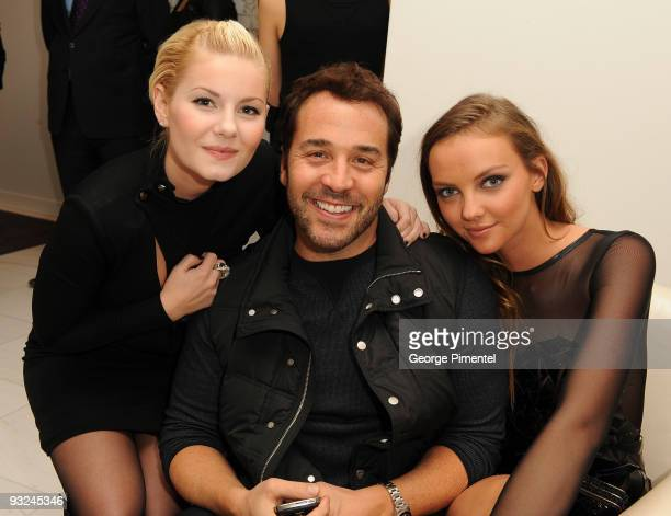 Actress Elisha Cuthbert Actor Jeremy Piven and model Heather Marks attend the Holt Renfrew Celebration for their new store in Calgary on November...
