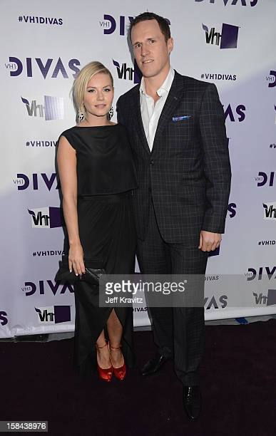 Actress Elisha Cuthbert and Canadian NHL player Dion Phaneuf arrive at 'VH1 Divas' 2012 at The Shrine Auditorium on December 16 2012 in Los Angeles...