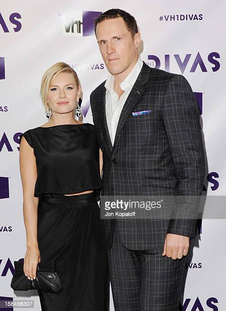 Actress Elisha Cuthbert and fiance Dion Phaneuf arrive at the 'VH1 Divas' 2012 at The Shrine Auditorium on December 16 2012 in Los Angeles California