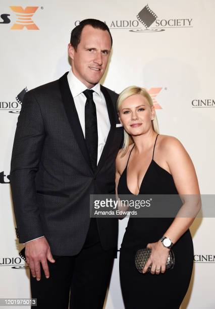 Actress Elisha Cuthbert and NHL player Dion Phaneuf attend the 56th Annual Cinema Audio Society Awards at the InterContinental Los Angeles Downtown...