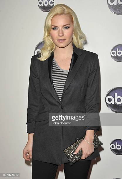 "Actress Elisha Cuthbert arrives to the Disney ABC Television Group ""Winter Press Tour"" at the Langham Hotel on January 10, 2011 in Pasadena,..."