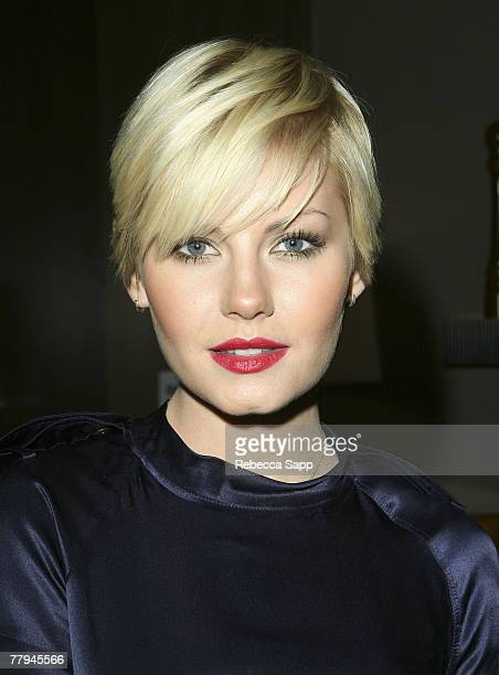 Actress Elisha Cuthbert at Allure's Face Cocktail Party at the Beverly Hills Hotel on November 14 2007 in Beverly Hills California