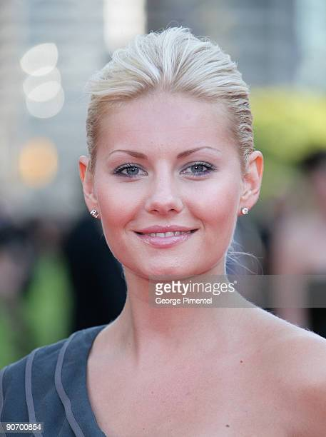 Actress Elisha Cuthbert attends Canada's Walk of Fame at The Four Season Centre of the Performing Arts on September 12 2009 in Toronto Canada