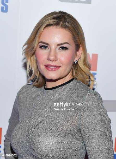 Actress Elisha Cuthbert attends Goon Last Of The Enforcers Premiere at Scotiabank Theatre on March 6 2017 in Toronto Canada