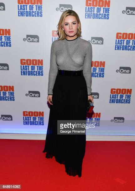 Actress Elisha Cuthbert attends 'Goon Last Of The Enforcers' Premiere at Scotiabank Theatre on March 6 2017 in Toronto Canada