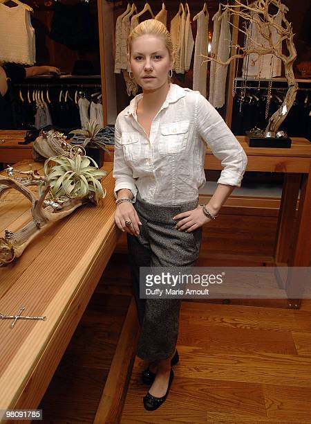 Actress Elisha Cuthbert attends Official Launch Of LowLuv By Erin Wasson at Ron Herman Melrose on March 27 2010 in Los Angeles California