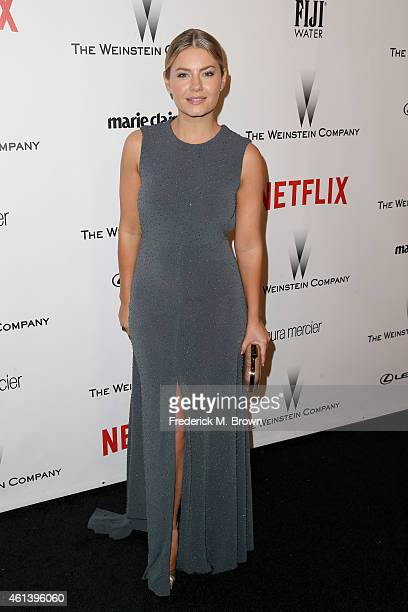 Actress Elisha Cuthbert attends the 2015 Weinstein Company and Netflix Golden Globes After Party at Robinsons May Lot on January 11, 2015 in Beverly...