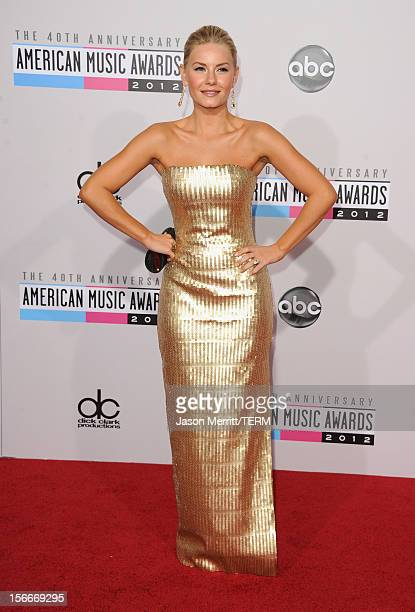 Actress Elisha Cuthbert attends the 40th American Music Awards held at Nokia Theatre LA Live on November 18 2012 in Los Angeles California