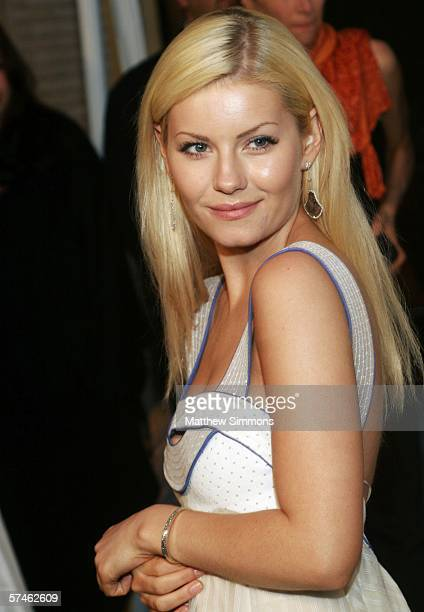 Actress Elisha Cuthbert attends the Nina Ricci Fall 2006 Collection fashion show to benefit The Rape Foundation at Barneys New York on April 26 2006...