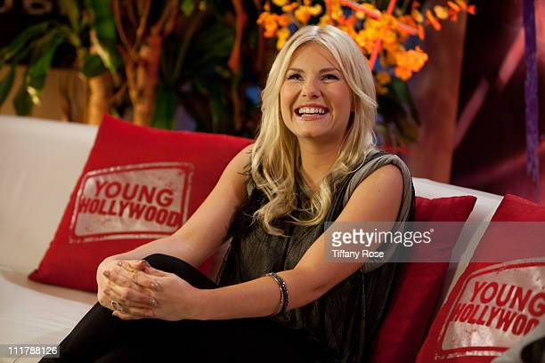 Actress Elisha Cuthbert visits YoungHollywoodcom at the Young Hollywood Studio on April 6 2011 in Los Angeles California