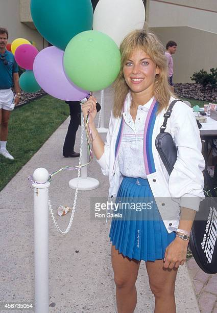 Actress Elissa Leeds attends the Third Annual MakeAWish Celebrity Sports Fesitval on May 9 1987 at La Casa De Vida in Torrance California