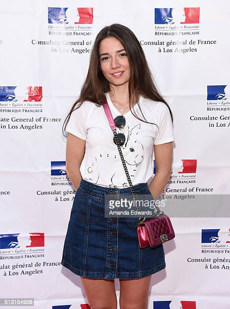 Actress Elit Iscan attends the Champagne brunch reception honoring the French nominees for The 88th Academy Awards at La Residence de France on...