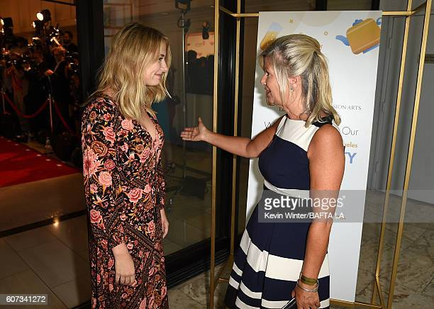 Actress Eliza Bennett and BAFTA CEO Chantal Rickards attend the BBC America BAFTA Los Angeles TV Tea Party 2016 at The London Hotel on September 17,...