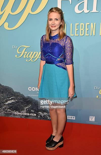 Actress Eliza Bennett attends 'Die Trapp Familie Ein Leben fuer die Musik' German Premiere at Gloria Palast on November 2 2015 in Munich Germany