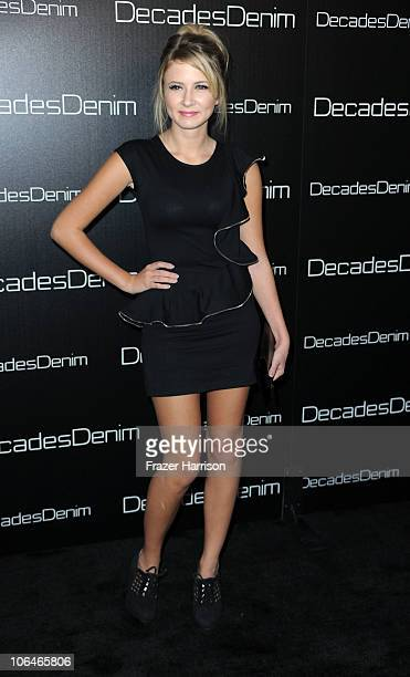 Actress Eliza Bennett attends the launch party of Decades Denim presented by Cameron Silver and Angelique Soave on November 2, 2010 in Beverly Hills,...