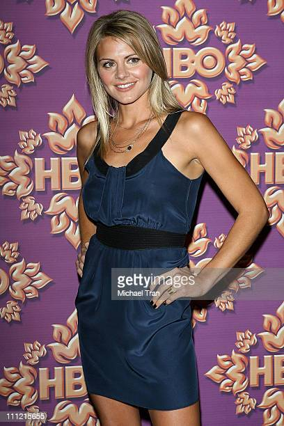 Actress Eliza Coupe attends HBO after party for the 59th Primetime Emmy Awards at The Pacific Design Center on September 16 2007 in Los Angeles...