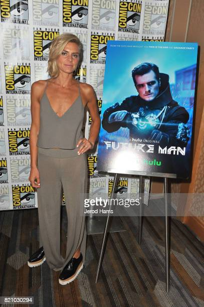 Actress Eliza Coupe attends 'The Flash' press line at Comic Con 2017 Day 3 on July 22 2017 in San Diego California