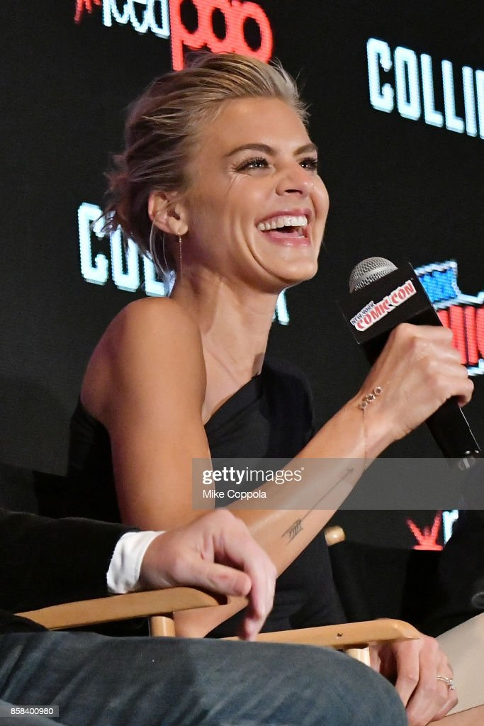 Actress Eliza Coupe participates in Hulu's Future Man panel at New York Comic Con at Jacob Javits Center on October 6, 2017 in New York City.