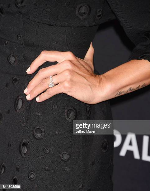 Actress Eliza Coupe ring tattoo detail at The Paley Center for Media's 11th Annual PaleyFest fall TV previews Los Angeles for Hulu's The Mindy...