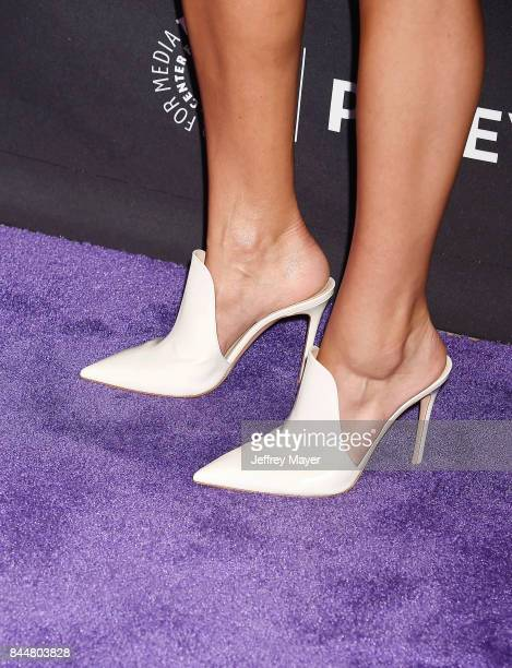Actress Eliza Coupe shoe detail at The Paley Center for Media's 11th Annual PaleyFest fall TV previews Los Angeles for Hulu's The Mindy Project at...