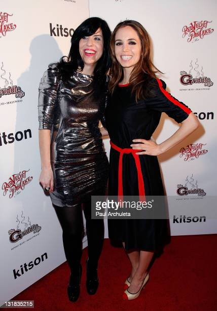 Actress Eliza Dushku and Jodi arrive at the Griddle Cafe's Red Velvet Pancake Mix launch party at Kitson on Roberston on January 13 2011 in Beverly...