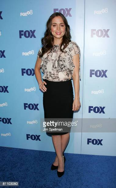 Actress Eliza Dushku arrives at the 2008 FOX UpFront at Wollman Rink Central Park on May 15 2008 in New York City