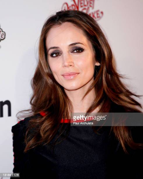 Actress Eliza Dushku arrives at the Griddle Cafe's Red Velvet Pancake Mix launch party at Kitson on Roberston on January 13 2011 in Beverly Hills...