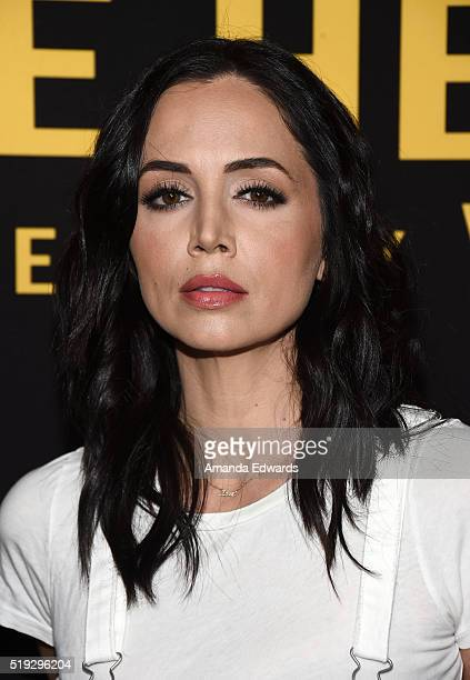 Actress Eliza Dushku arrives at the premiere of Silver Lining Entertainment's 'Be Here Now' at the UTA Theater on April 5 2016 in Los Angeles...