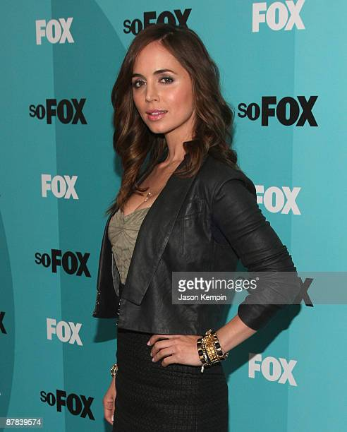 Actress Eliza Dushku attends the 2009 FOX UpFront after party at the Wollman Rink in Central Park on May 18 2009 in New York City