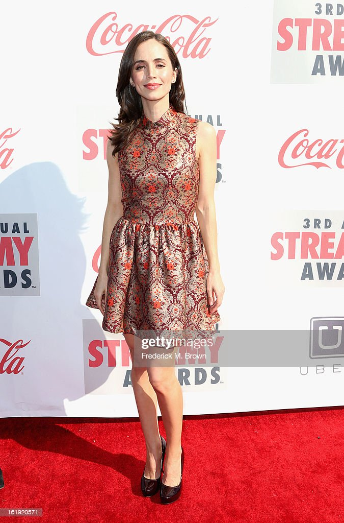 Actress Eliza Dushku attends the 3rd Annual Streamy Awards at Hollywood Palladium on February 17, 2013 in Hollywood, California.