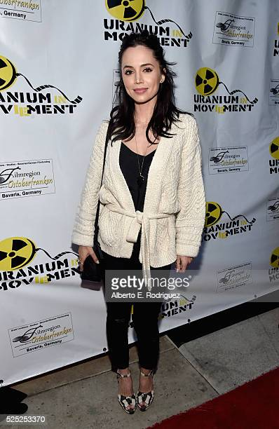 """Actress Eliza Dushku attends the Atomic Age Cinema Fest Premiere of """"The Man Who Saved The World"""" at Raleigh Studios on April 27, 2016 in Los..."""