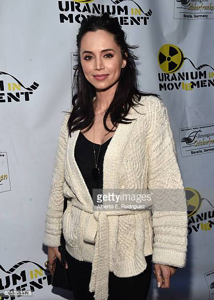 Actress Eliza Dushku attends the Atomic Age Cinema Fest Premiere of 'The Man Who Saved The World' at Raleigh Studios on April 27 2016 in Los Angeles...