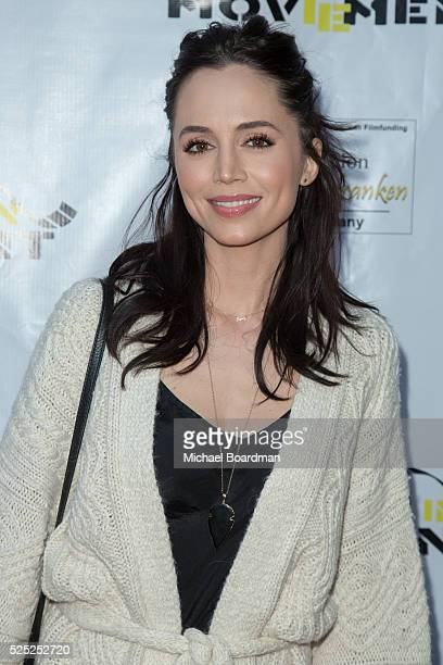Actress Eliza Dushku attends 'The Man Who Saved The World' premiere during the Atomic Age Cinema Fest at Raleigh Studios on April 27 2016 in Los...