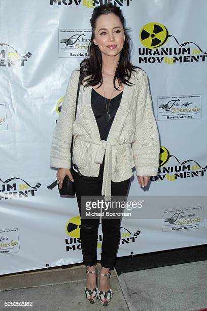 """Actress Eliza Dushku attends """"The Man Who Saved The World"""" premiere during the Atomic Age Cinema Fest at Raleigh Studios on April 27, 2016 in Los..."""