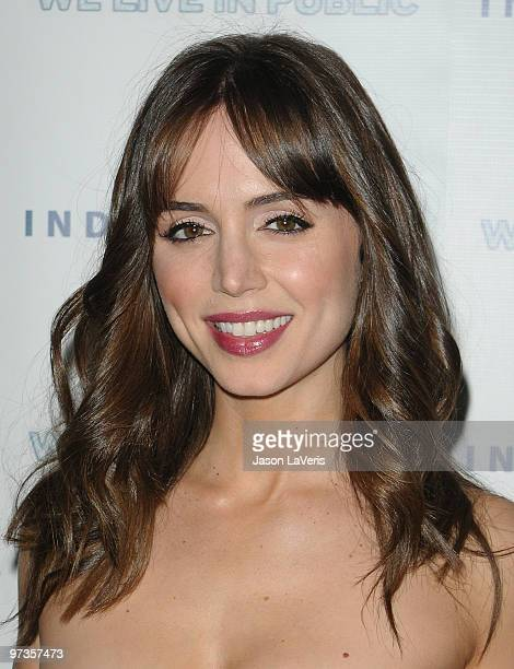 Actress Eliza Dushku attends the premiere of 'We Live In Public' at the Egyptian Theatre on March 1 2010 in Hollywood California
