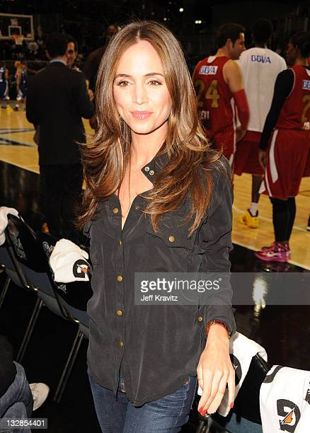 Actress Eliza Dushku during the 2011 BBVA NBA AllStar Celebrity Game at Los Angeles Convention Center on February 18 2011 in Los Angeles California