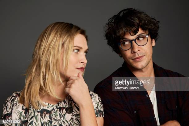 Actress Eliza Taylor and actor Bob Morley from The 100 are photographed for Entertainment Weekly Magazine on July 21 2017 at Comic Con in San Diego...